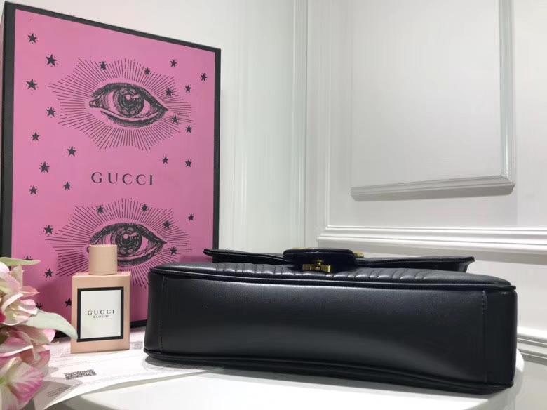 GUCCI Marmont new disco 443496 黑色 网红潮人们街拍出镜率超高,款式简单耐看又有质感 31cm