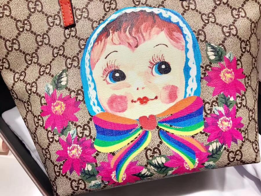 Gucci最萌的mini卡通购物袋 410812 红色手挽和内衬 撩翻你的少女,风靡时尚 21×20×10cm