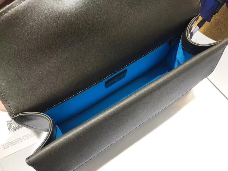 GUCCI Dionysus 499623 墨绿色 天鹅绒精心制作,滑链带有多种背法 25×13.5×7cm