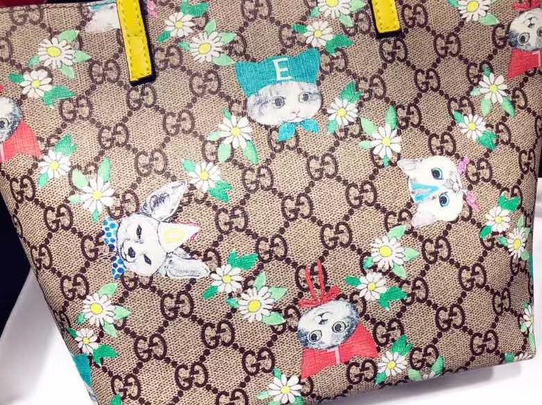 Gucci最萌的mini卡通购物袋 410812,撩翻你的少女,风靡时尚,萌萌哒融化人心 21×20×10cm
