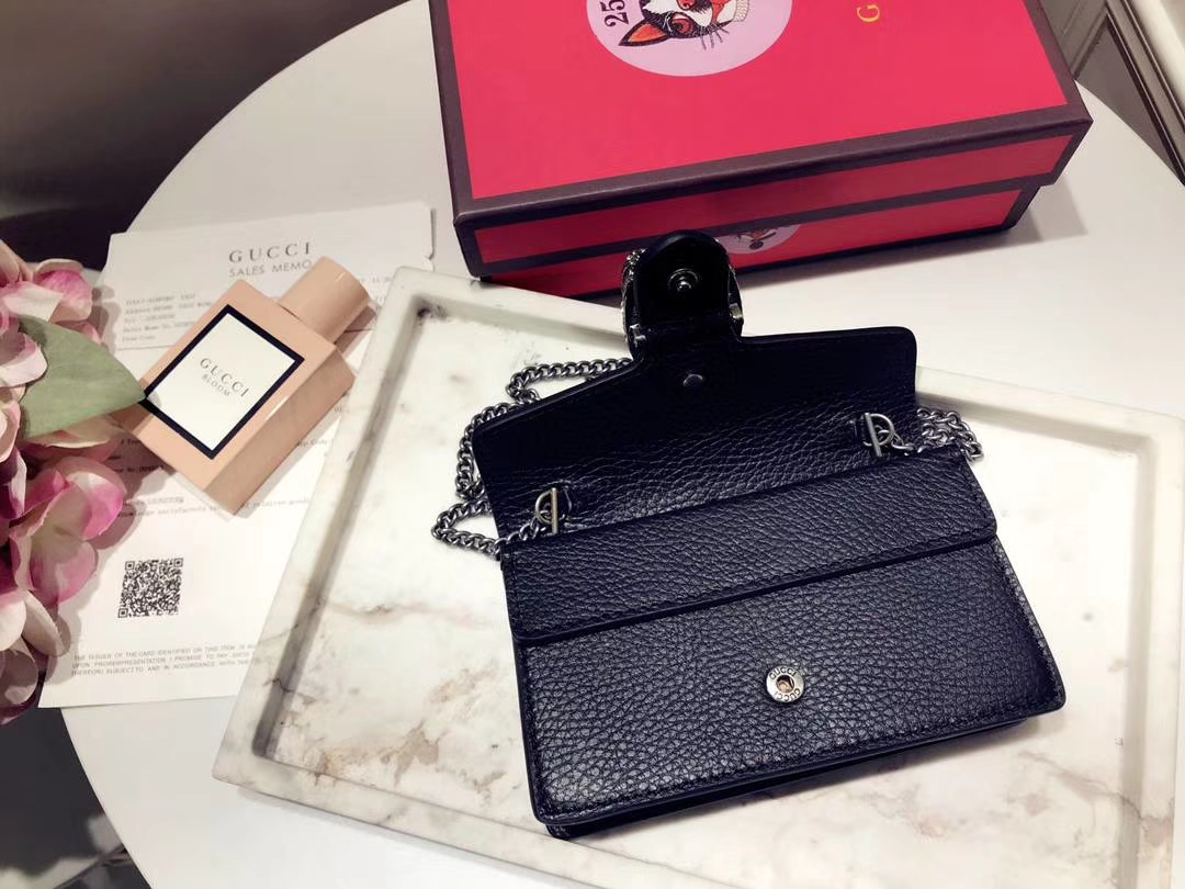 GUCCI 最新Nano Dionysus包包 476432 黑色 一款Mini 酒神真的是美的心都融化了 可爱又迷你 16.5cm
