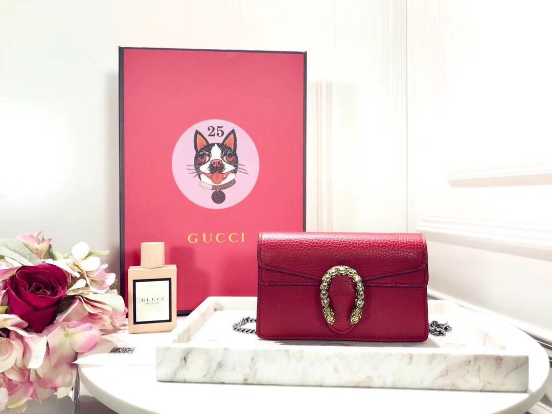 GUCCI 最新Nano Dionysus包包 476432 红色 一款Mini 酒神真的是美的心都融化了 可爱又迷你 16.5cm