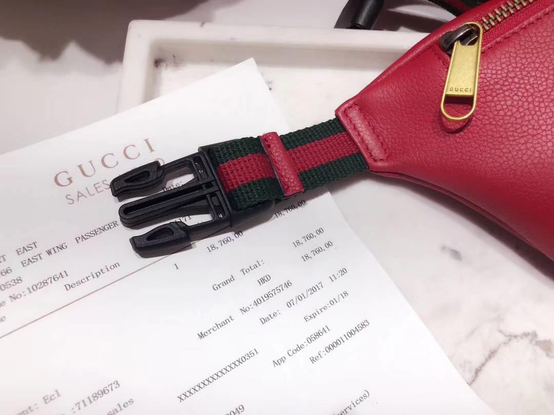 GUCCI爆款涂鸦腰包小号 527792 红色 超级mini可爱 俏皮甜美 特别适合女孩子 22×13×6cm