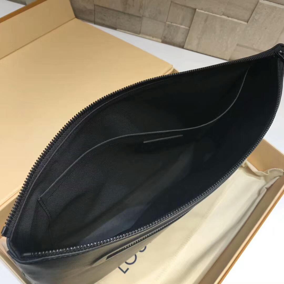 路易威登官网 男士手包到货43892 全牛皮黑色