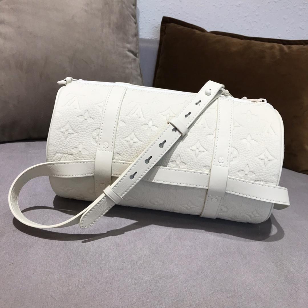 LV包包批发 设计师Virgil Abloh首发白色枕头包44425 时尚好看