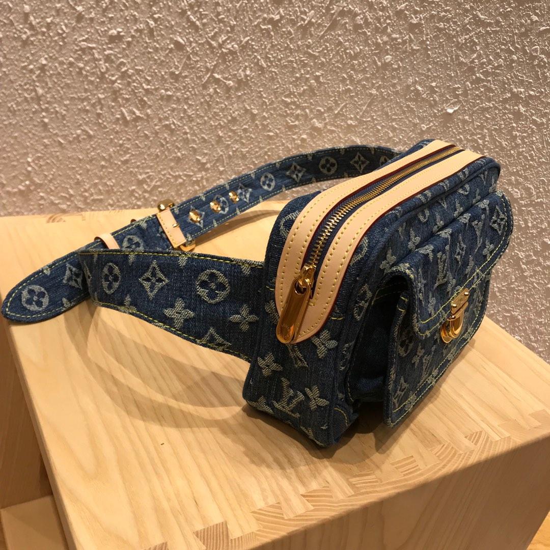 【¥780】路易威登官网 LV牛仔系列中古绝版限量款腰包44466 无论怎么搭配都超有范