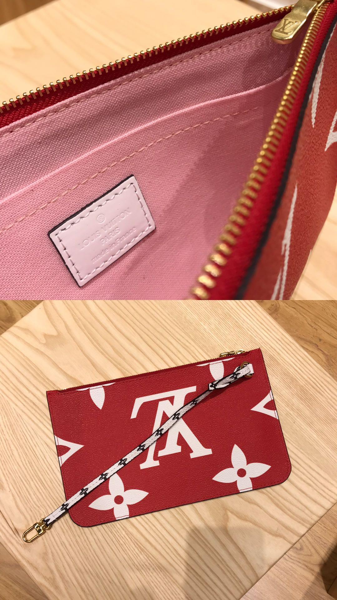 路易威登官网 新款红色拼粉色里购物袋44414 圣诞跟新年的最佳选择