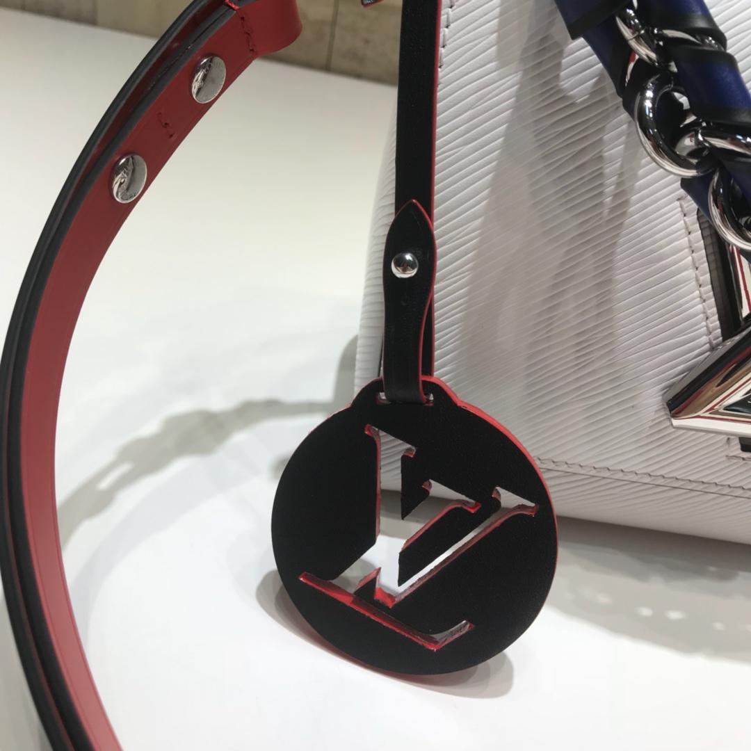 LV包包批发 Twist包LV招牌之一小号50278 造型清贵低调 短链条带 长肩带可调长短