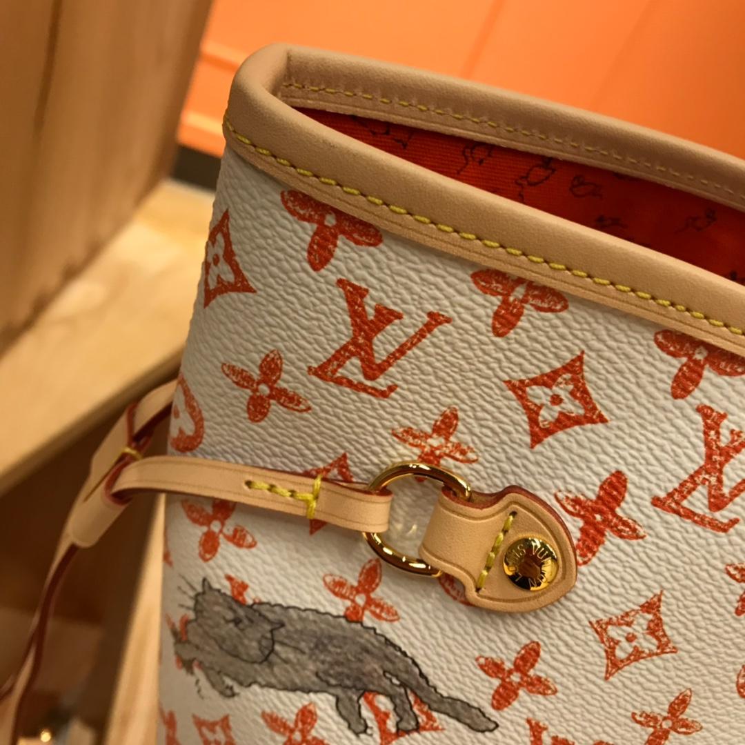 LV包包批发 2019早春限量猫咪系列购物袋44441 为经典包袋增添俏皮趣味