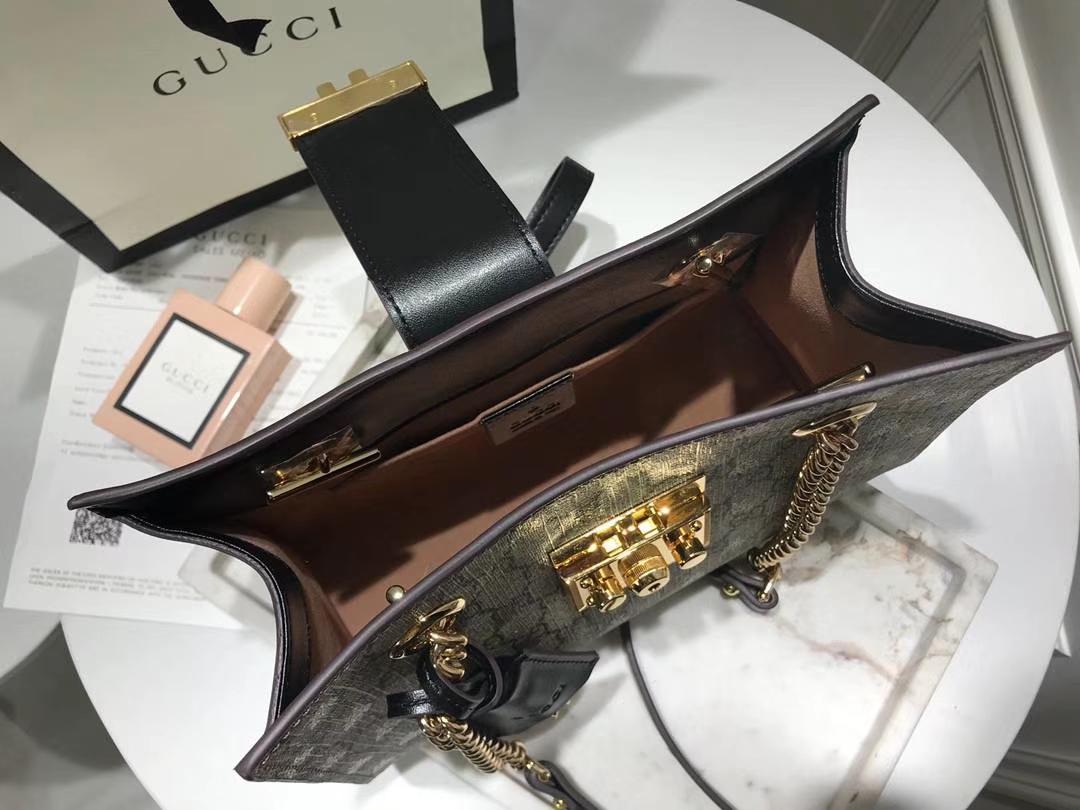 GUCCI(古驰)最新款百搭padlock最火包 498156 复古色 犹如文艺少女的时光宝盒 26×18×10cm