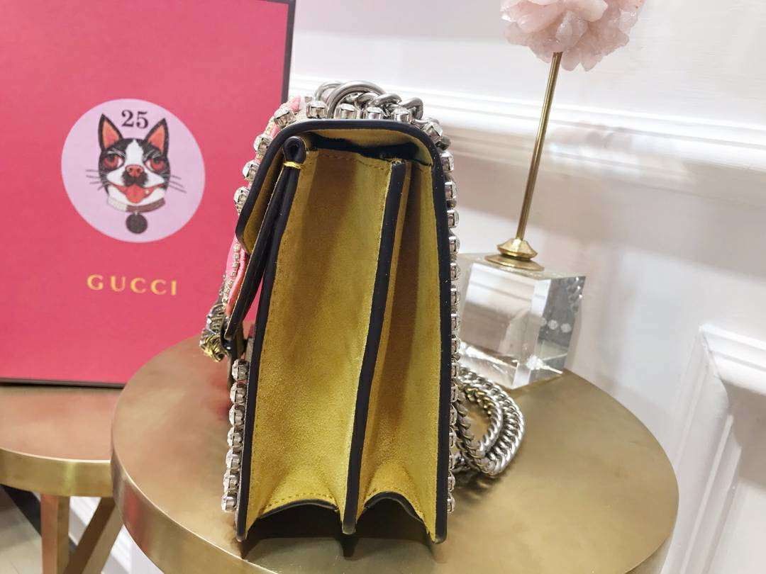 GUCCI(古驰)私人定制限量版酒神包 400249 蝴蝶结融化少女心 细节到位 完美油边 28×17×9cm