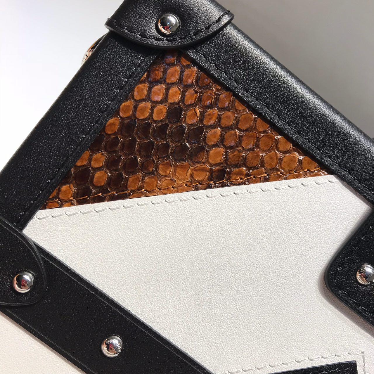 路易威登包包 LV家百年经典小箱子大号真蟒蛇皮44154 全钢五金
