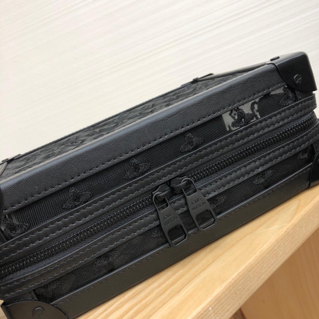 LV包包工厂 设计师Virgil Abloh入驻驴家首发单品 软盒子网绣黑44427