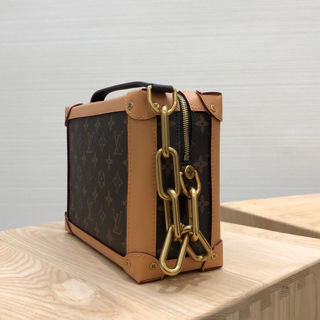 LV男包 男款2019秋冬系列的老花设计盒子44723 棕色皮革搭配老花真的是永恒的经典