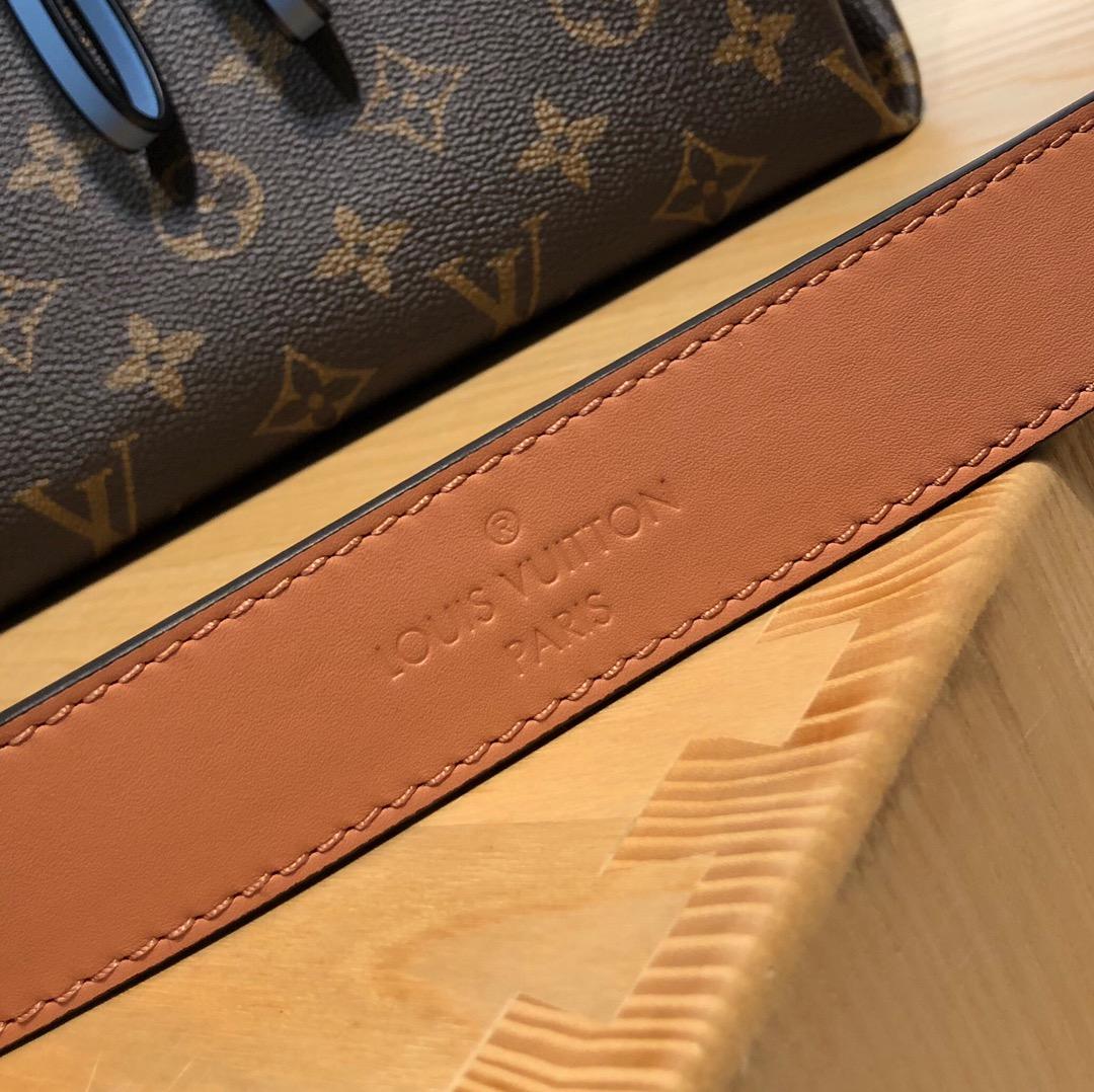 【¥1200】路易威登官网 Beaubourg季节限定41060 粉色肩带 蓝色橙色配饰的撞色设计