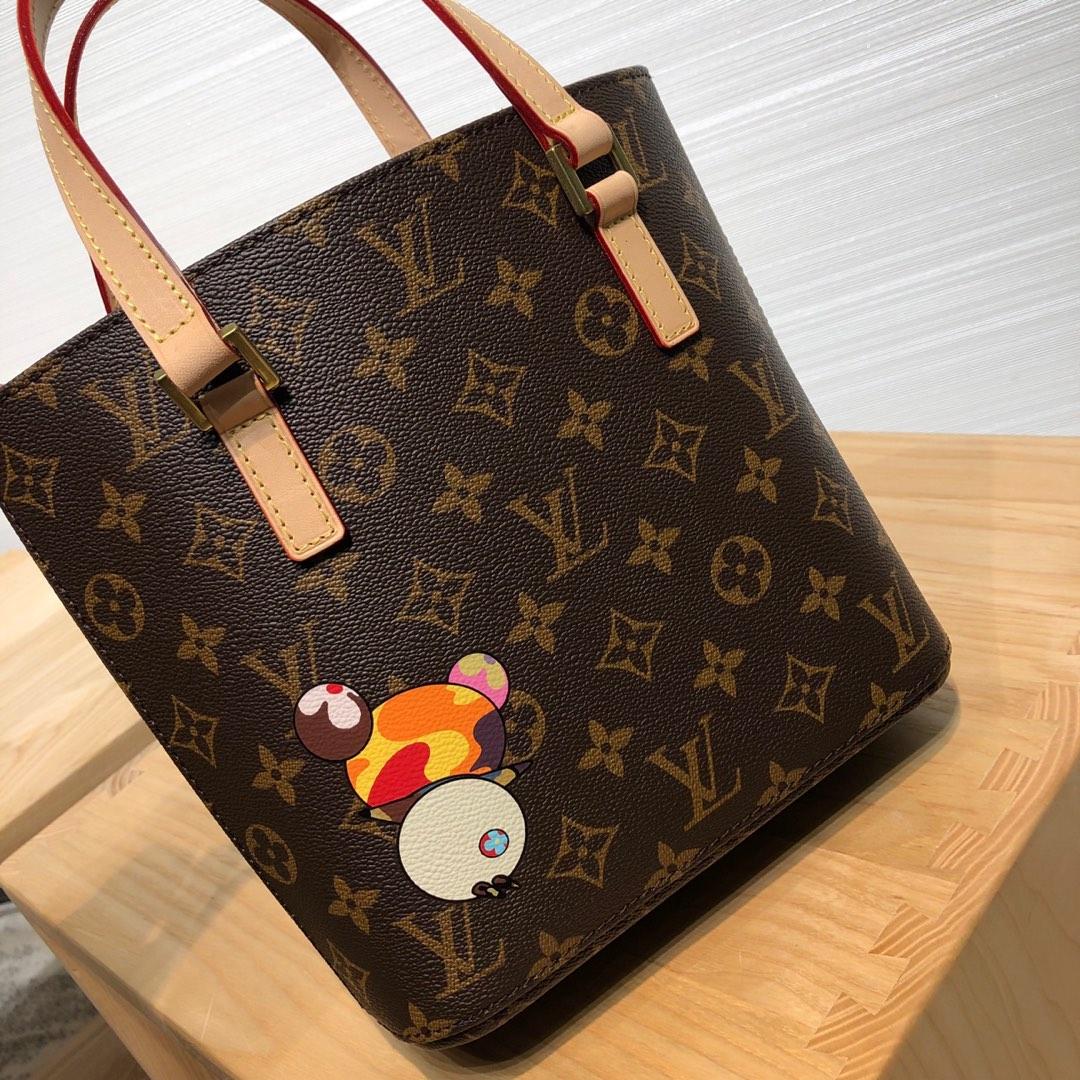 广州包包批发 LV村上隆合作限量款手提袋50712 调皮可爱且独特的风格设计
