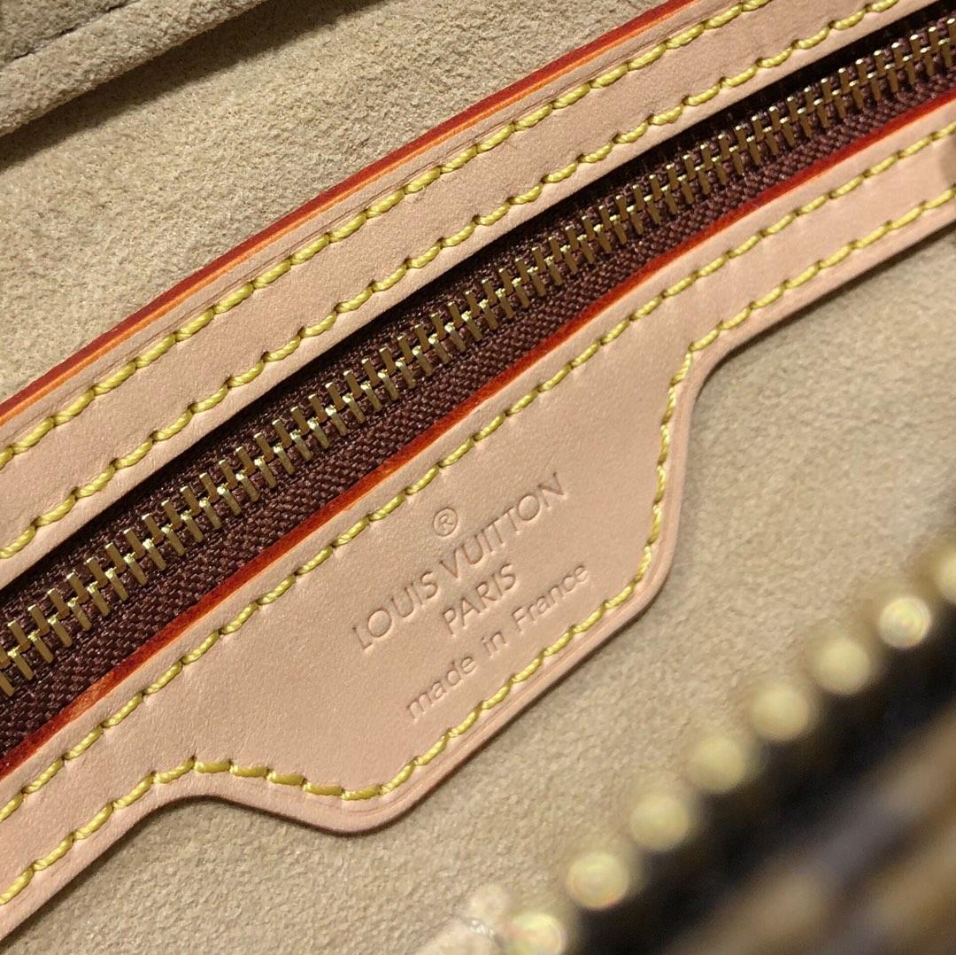 【¥780】广州白云皮具城 LV中古手提包45439 古董级的Vintage 古味十足