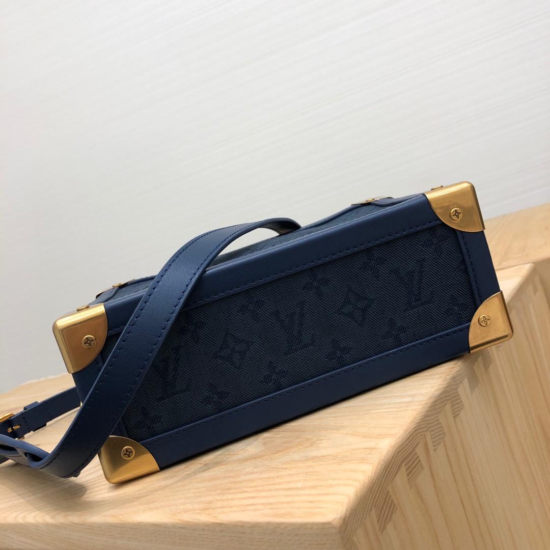 路易威登官网 限量款盒子44723 复古金色五金搭配牛仔 妥妥的vintage风