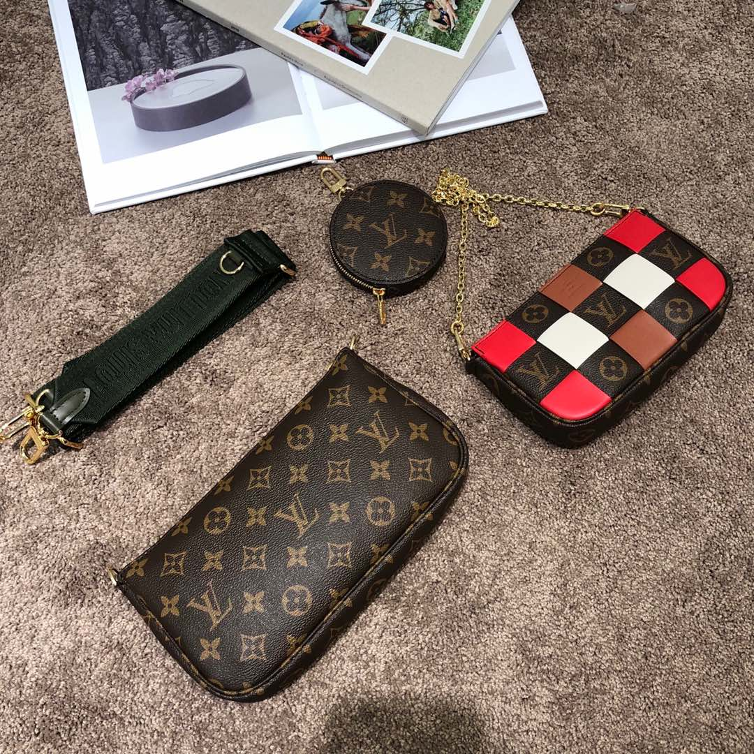【¥1150】LV包包爆款 驴家全新组合三件套新颜色51984 经典三小包 时尚感十足
