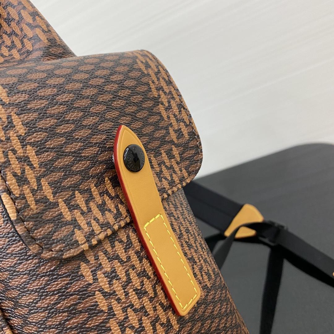 【1380】LV最新NIGO合作系列背包43735 超大号的棋盘格 图案细节满满