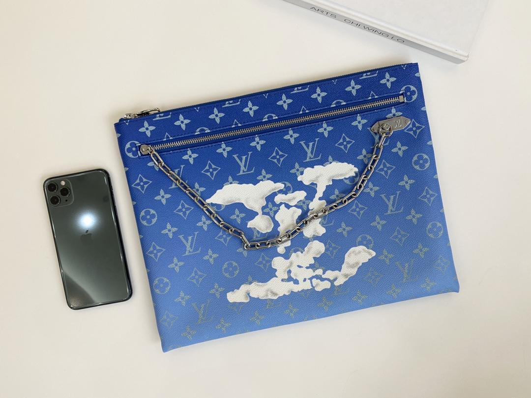 【¥680】LV蓝天白云系列手包43852 美出天际的一季 蓝天白云 晴空往里