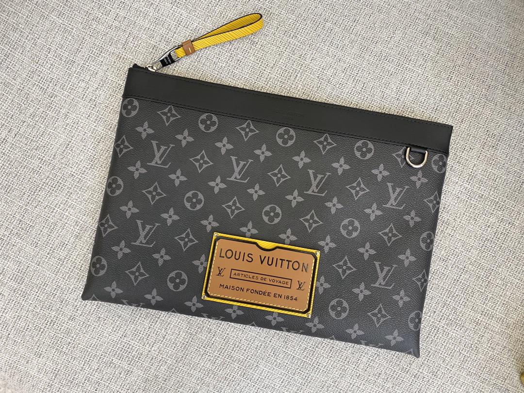 【¥650】LV经典手包61669 轻便能装 低调奢华 黄色标太帅了