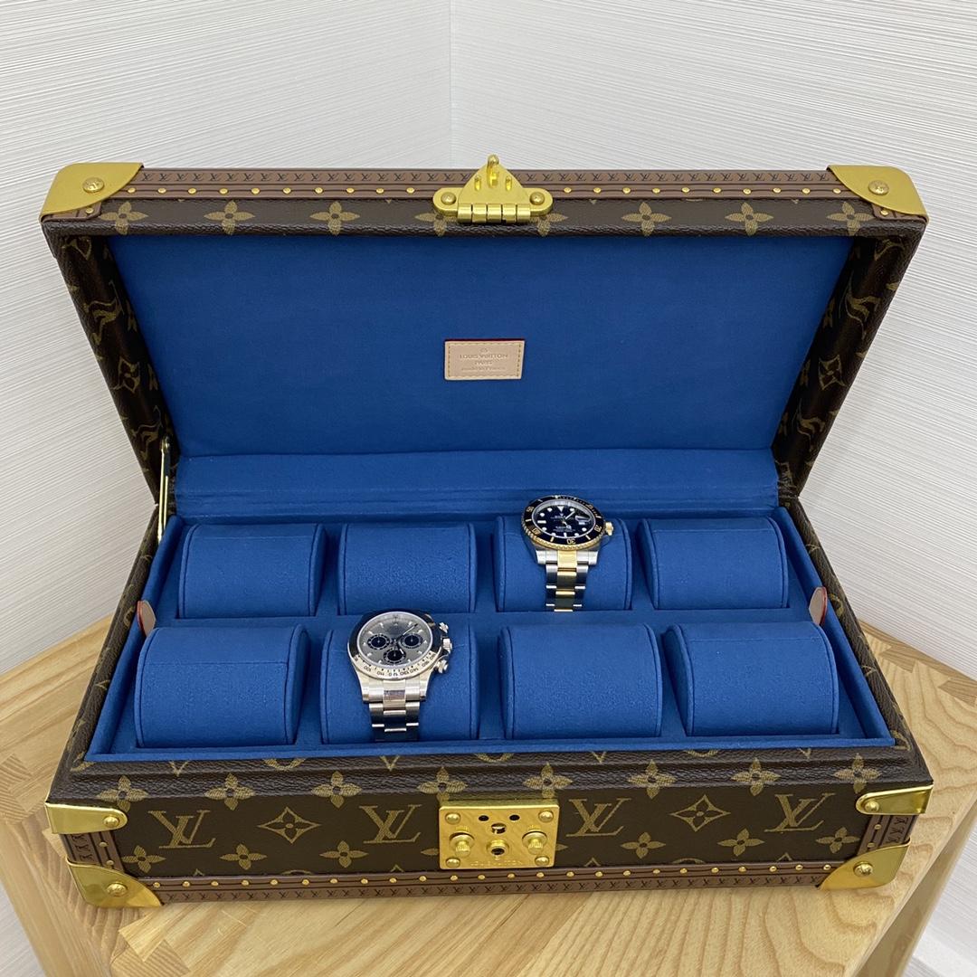 【¥2400】LV表盒表箱40664 超实用的表盒 装满表之后的样子更加迷人