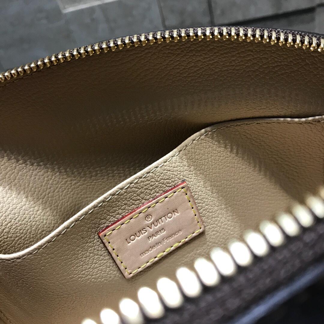 【¥500】LV女神最爱化妆包大号47353 圆润的外形万分讨喜 手包斜挎随意切换