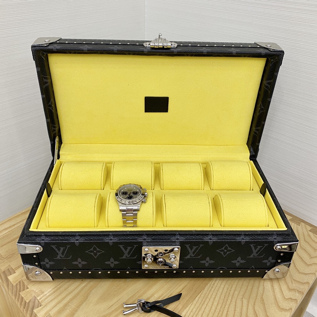 【¥2400】LV表盒表箱黑花/白呖色五金40664 超实用的表盒 装满表之后的样子更加迷人