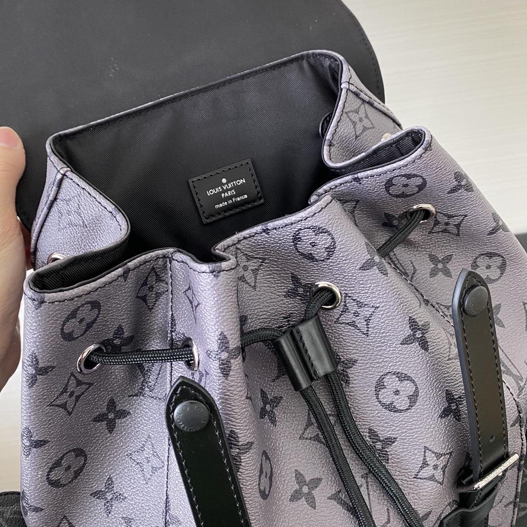 【¥1450】LV经典男士背包新颜色45419 黑灰搭配不要太好看 上身足够帅气
