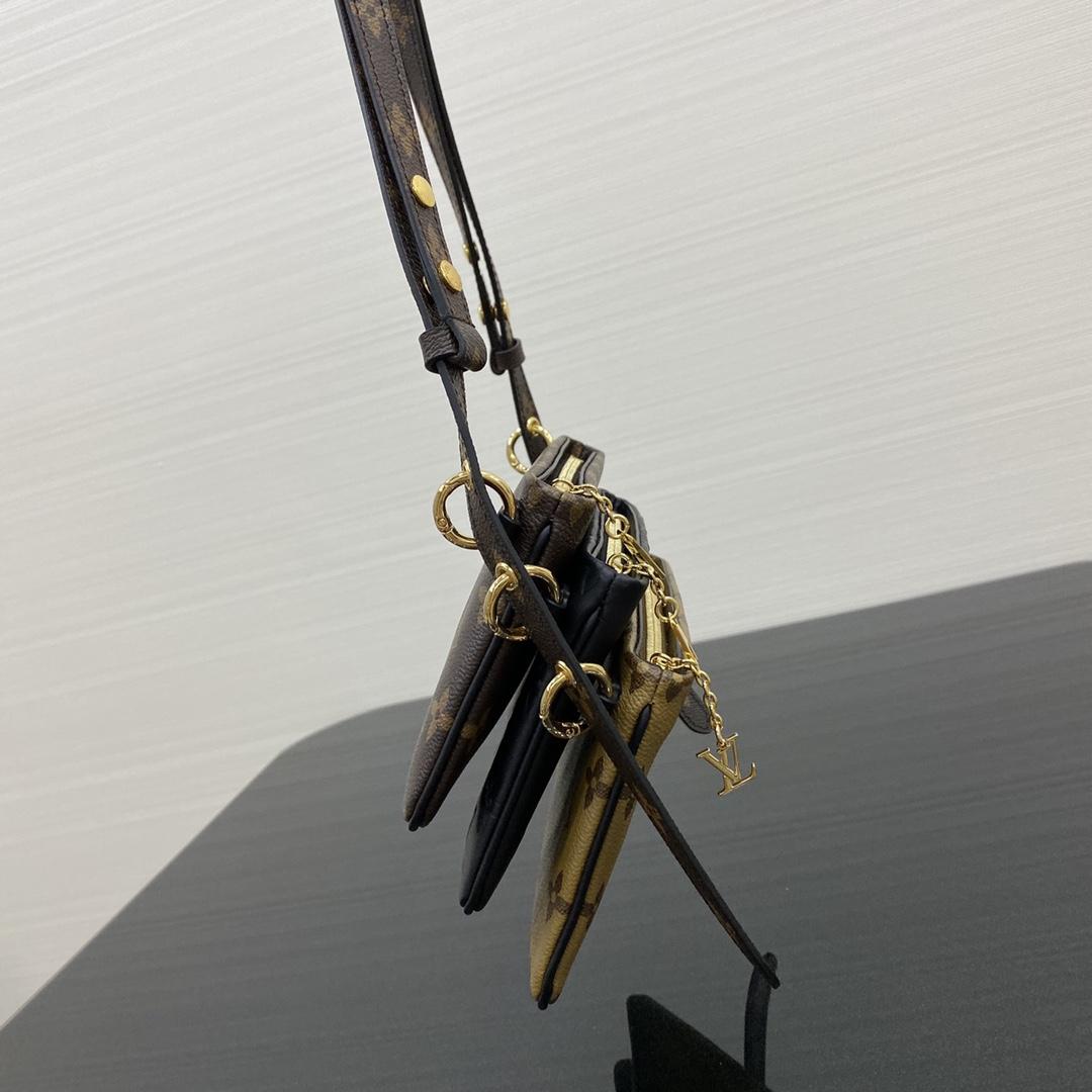 【¥880】LV麻将包三件套57093 由老花,暗纹,反色老花三款信封包组合而成