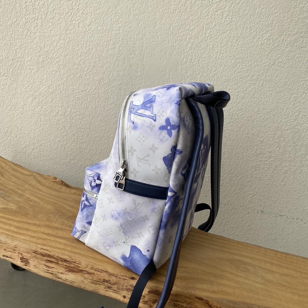 【¥1320】LV最新水彩系列背包45760 蓝白配色清澈又治愈 火爆热卖