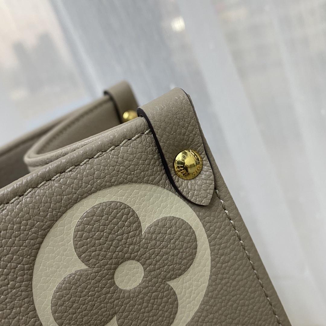 【¥1580】LV全皮购物袋小号44418 上班族tote推荐on the go购物袋 大气实用