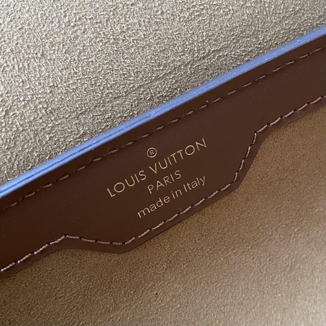 【¥1530】LV年度爆款Papillon Trunk圆筒包57835 经典老花搭配深色牛皮