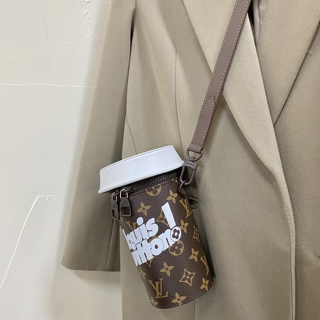 【¥980】驴家2021-22秋冬Everyday LV胶囊系列Coffee Cup手袋 超大咖啡杯化身为随行配饰 可手持可斜挎80812